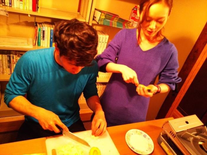 Sakura no Sonoの反省会をしていたら、余ってたフランスパンがあまりに美味しすぎて、食べ_1.jpg
